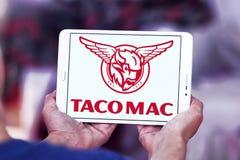 Logotipo de los restaurantes del mac del taco Fotos de archivo libres de regalías