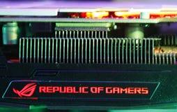 Logotipo de los videojugadores Foto de archivo libre de regalías