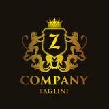 Logotipo de lujo del ` del ` Z de la letra Fotografía de archivo libre de regalías
