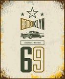 Logotipo de lujo del vector del vehículo del vintage aislado en fondo ligero Fotos de archivo