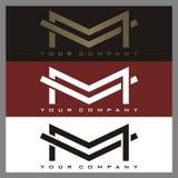 Logotipo de M Imagem de Stock Royalty Free