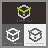 Logotipo de M Imagens de Stock
