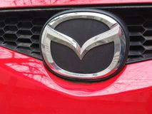Logotipo de Mazda fotografia de stock