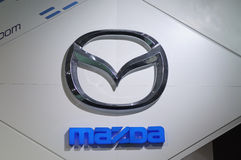 Logotipo de Mazda imagens de stock