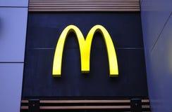 Logotipo de McDonald's Imagen de archivo libre de regalías