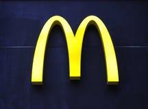 Logotipo de McDonald's Imágenes de archivo libres de regalías