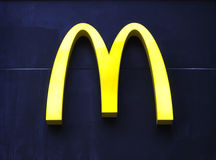 Logotipo de McDonald's Imagens de Stock Royalty Free