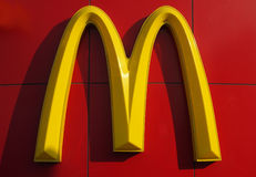 Logotipo de McDonald's Fotos de Stock Royalty Free