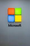 Logotipo de Microsoft en la plaza baja de Yat en Kuala Lumpur Foto de archivo