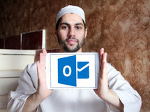 Logotipo de Microsoft Outlook imagens de stock
