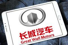 Logotipo de Motores Empresa do Grande Muralha Imagens de Stock Royalty Free