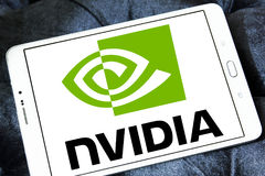 Logotipo de Nvidia imagens de stock