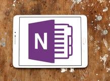 Logotipo de OneNote del Microsoft Office imagen de archivo