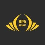 Logotipo de oro del balneario Foto de archivo libre de regalías