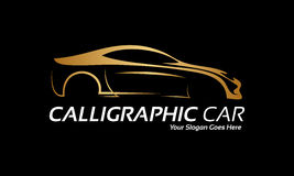 Logotipo de oro del coche libre illustration
