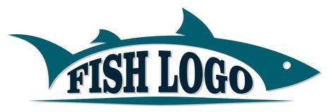Logotipo de peixes de mar ilustração royalty free