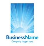 Logotipo de pensamento do céu azul Fotos de Stock Royalty Free