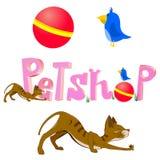 Logotipo de Petshop Fotografia de Stock Royalty Free