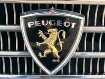 Logotipo de Peugeot do vintage foto de stock royalty free