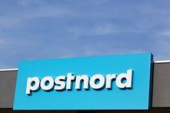 Logotipo de Postnord em uma parede Imagem de Stock