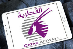 Logotipo de Qatar Airways imagem de stock