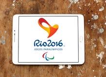 Logotipo 2016 de Río de los juegos de Paralympic Fotografía de archivo