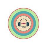 Logotipo de radio de la música Fotos de archivo