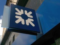 Logotipo de RBS (Royal Bank de Escócia) Fotografia de Stock Royalty Free