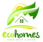 Logotipo de Real Estate de la casa de Eco Fotos de archivo libres de regalías