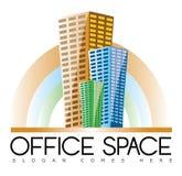 Logotipo de Real Estate dos prédios de escritórios Fotografia de Stock Royalty Free