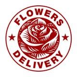 Logotipo de Rose en el fondo blanco Fotografía de archivo