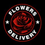 Logotipo de Rose en fondo oscuro Foto de archivo
