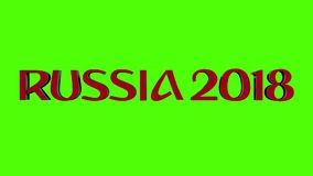 Logotipo 2018 de Rusia almacen de metraje de vídeo
