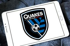 Logotipo de San Jose Earthquakes Soccer Club imagens de stock royalty free