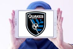 Logotipo de San Jose Earthquakes Soccer Club foto de stock royalty free