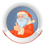 Logotipo de Santa Claus Imágenes de archivo libres de regalías
