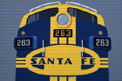 Logotipo de Santa Fe Railroad imagem de stock royalty free