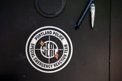 Logotipo de SERT no carro policial imagem de stock royalty free