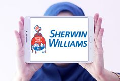 Logotipo de Sherwin Williams Company Fotografia de Stock Royalty Free
