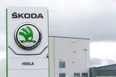 Logotipo de Skoda imagem de stock royalty free