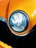 Logotipo de Skoda no carro moderno fotografia de stock