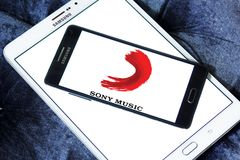 Logotipo de Sony Music Entertainment foto de stock