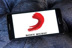Logotipo de Sony Music Entertainment fotos de stock royalty free