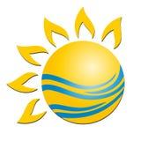 Logotipo de Sun Fotografia de Stock Royalty Free