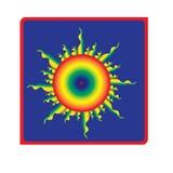 Logotipo de Sun con siete colores libre illustration