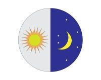 Logotipo de Sun y de la luna Fotos de archivo