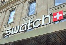 Logotipo de Swatch imágenes de archivo libres de regalías