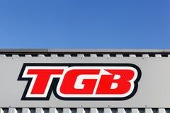 Logotipo de TGB en una pared Imagenes de archivo