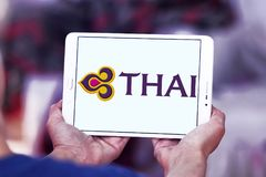 Logotipo de Thai Airways fotos de archivo