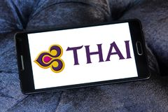 Logotipo de Thai Airways fotografía de archivo